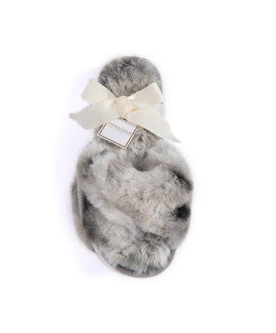Stowe Tie Dye Slippers, Grey