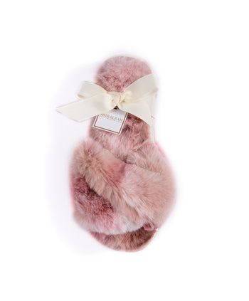 Stowe Tie Dye Slippers, Blush