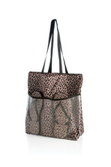 Leopard Tote And Flip-Flop Set, Multi