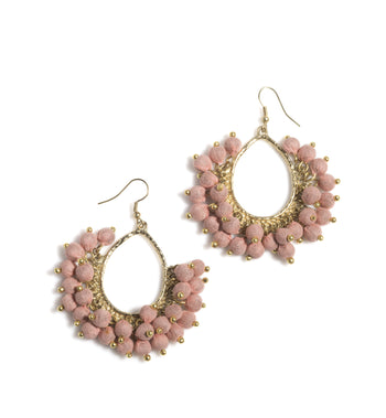 Amy Bead Earrings, Amy Bead Earrings, Blush