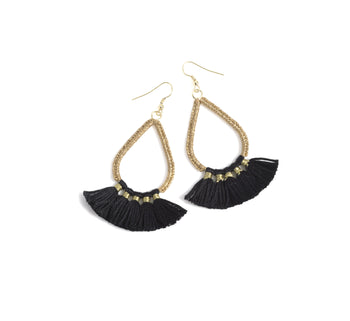 Rosalie Earrings, Black , Rosalie Earrings, Black