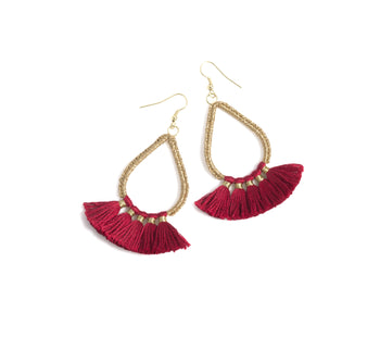 Rosalie Earrings, Red
