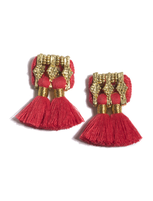 Sadie Earrings, Red