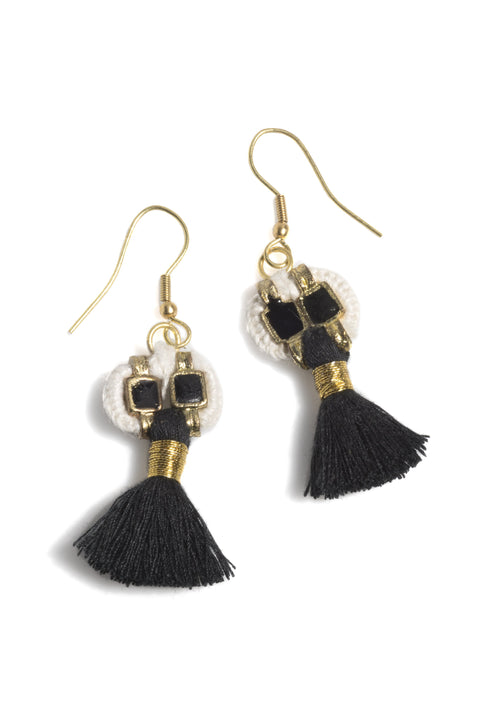 Paz Earrings, Paz Earrings, Black