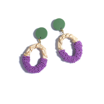 GABRIELLE EARRINGS,LAVENDER