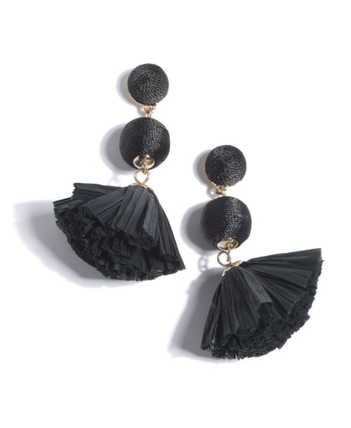 June Earrings, June Earrings, Black