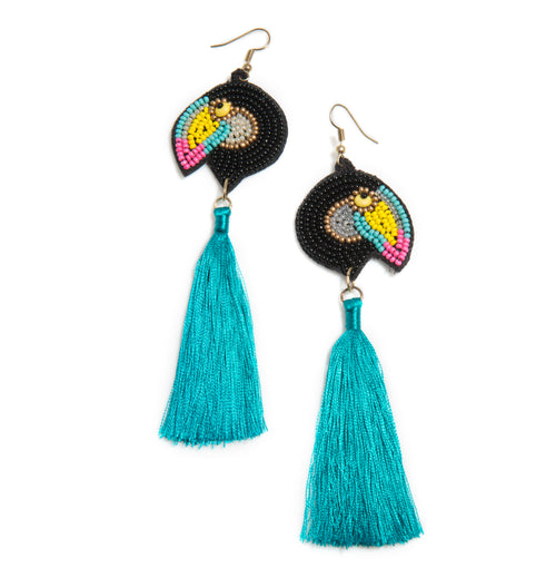 Toucan Earrings, Multi