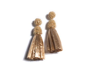 Serafina Earrings, Gold