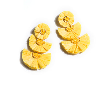 Gaetana Earrings, Yellow
