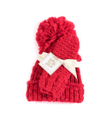 JOY HAT AND MITTEN SET, RED
