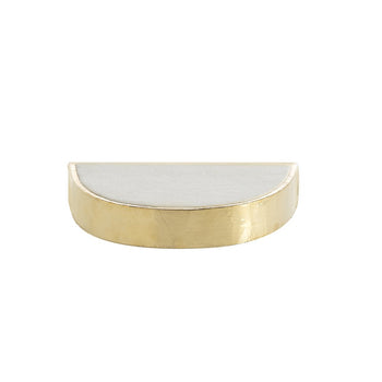 SMALL WALLACE D-SHAPE WALL SHELF,GOLD