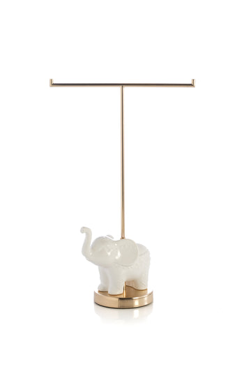 Small Elephant T-Stand,White