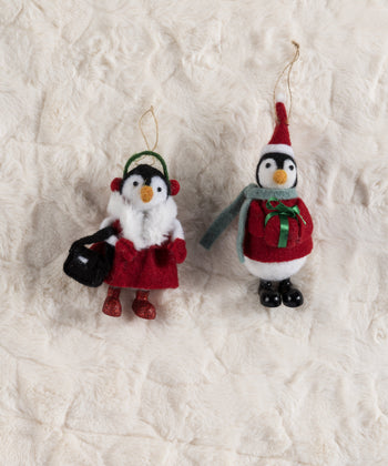 Set/2 Penguin Ornaments, Multi