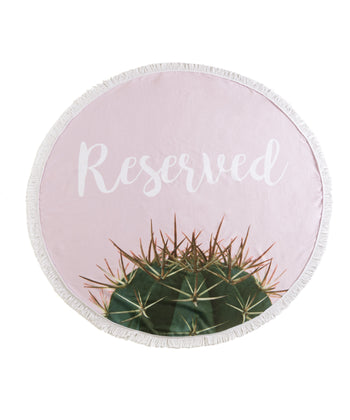 Reserved Round Beach Towel With Bag, Reserved Round Beach Towel With Bag, Blush