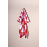 Checks Beach/Pool Towel, Strawberry,
