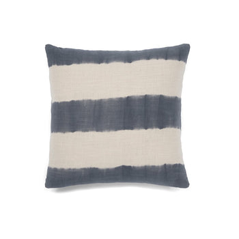 Aria Stripe Tie Dye Pillow, Grey, Aria Stripe Tie Dye Pillow, Grey