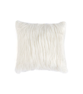 Shag Pillow, Ivory
