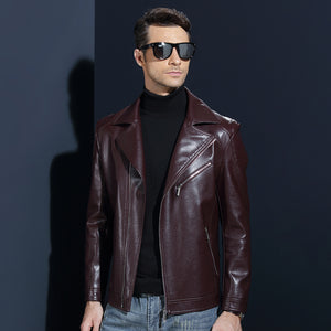 Men Leather Jacket - Business Dress
