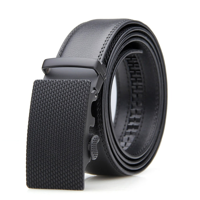 Leather Belt - Automatic Solid Buckle