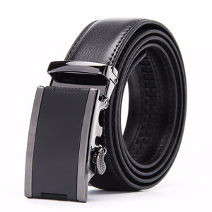 Leather Belt - Solid Buckle