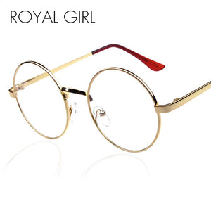 ROYAL GIRL Vintage Round Metal Eyeglasses