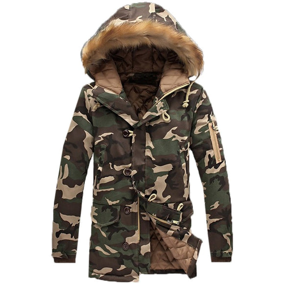 Thick Padded Coat - Army Camouflage
