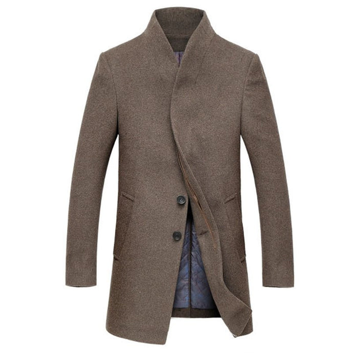 Warm Long Wool Overcoat