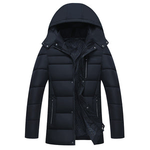 Warm Hooded Quilted Jackets - Thicken Zip Up Coats