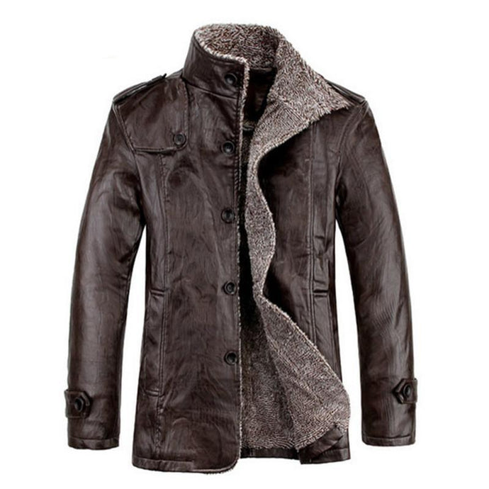 Warm Thick Fur Leather Jackets