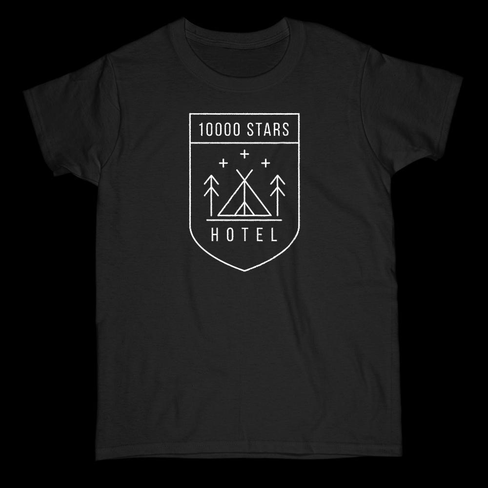 10,000 Stars Nature's Hotel (white font) Women's Tee Graphic T-Shirt Tee BOXELS