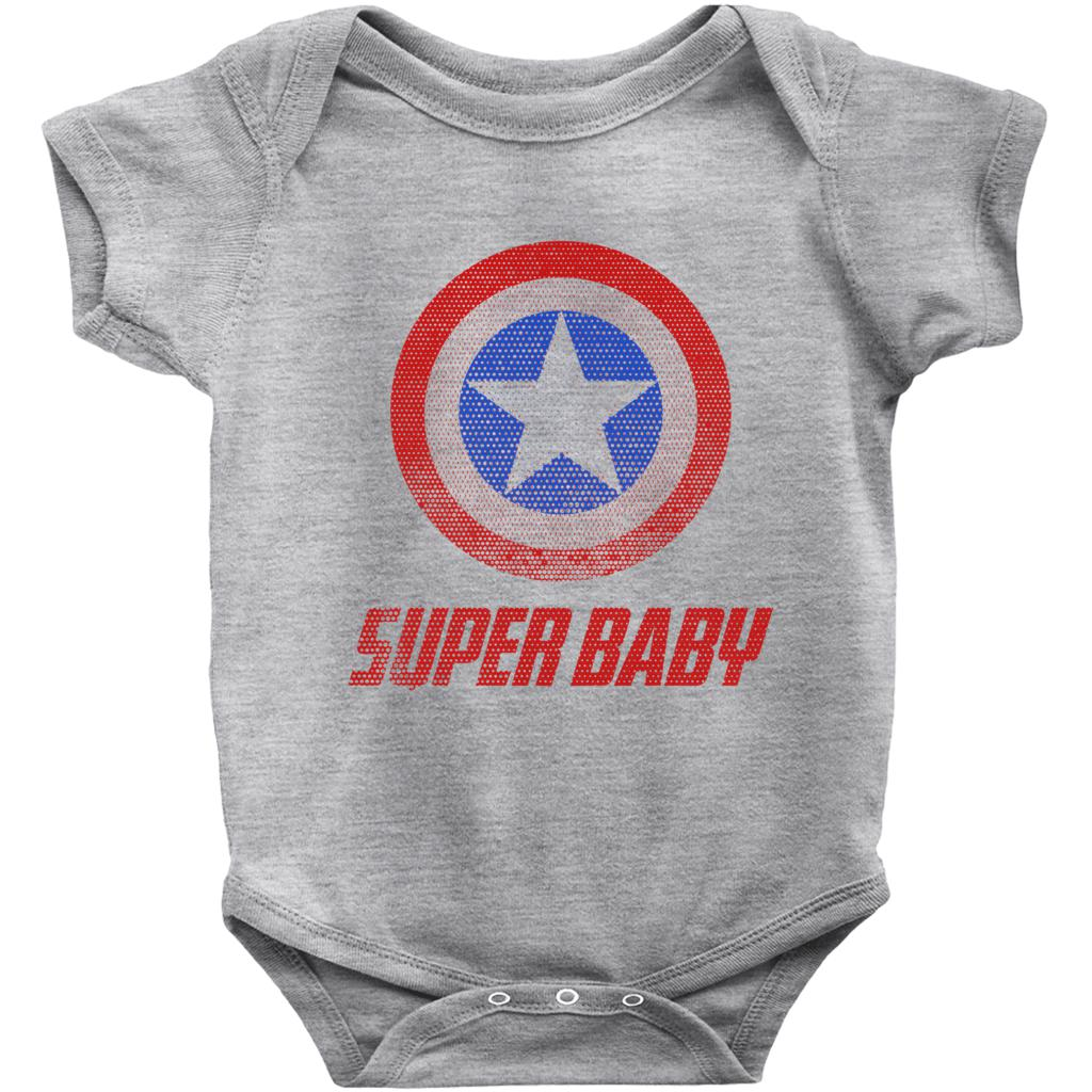 1327123901 Super Baby Onesies Graphic T-Shirt Tee BOXELS