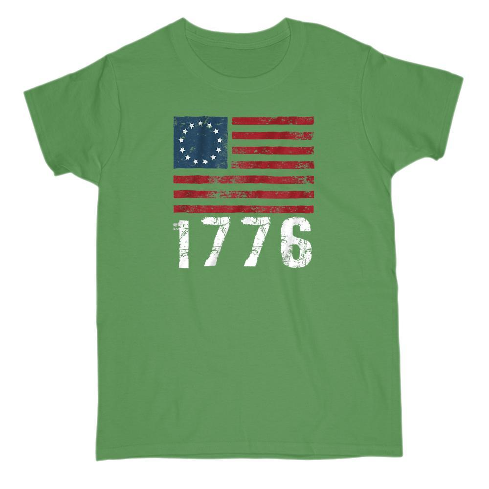 1776 Original Flag Grunge Style T-Shirt Graphic T-Shirt Tee BOXELS