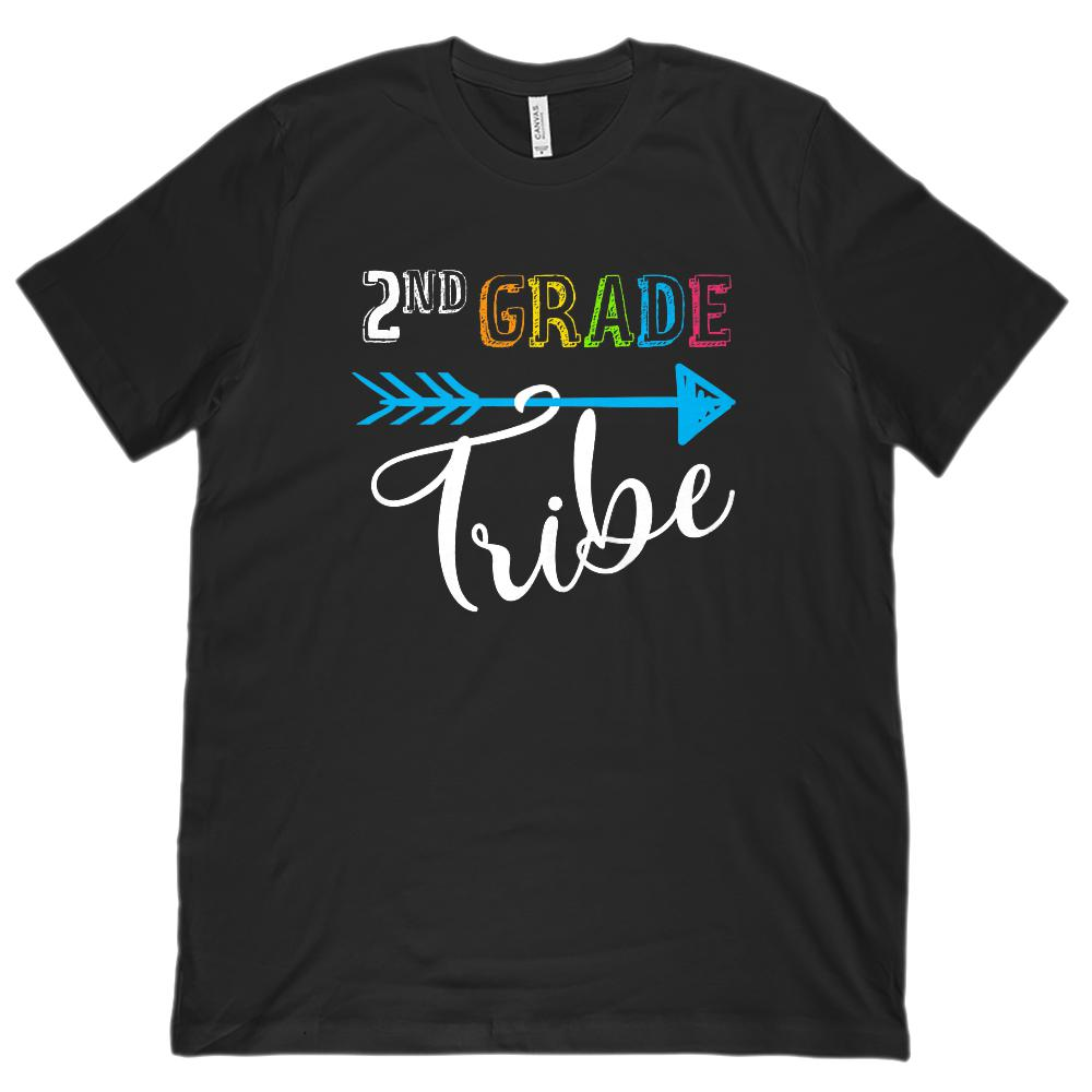 2nd Grade Tribe Graphic Teacher (Unisex BC 3001 Soft Tee) Graphic T-Shirt Tee BOXELS