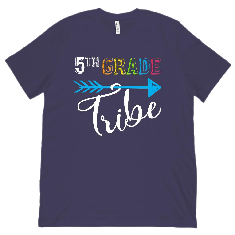 5th Grade Tribe Graphic Teacher (Unisex BC 3001 Soft Tee) Graphic T-Shirt Tee BOXELS
