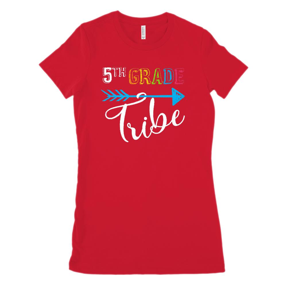 5th Grade Tribe Graphic Teacher (Women's BC 6004 Soft Tee) Graphic T-Shirt Tee BOXELS
