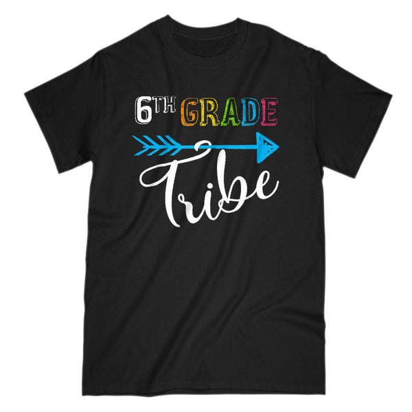 6th (sixth) Grade Tribe Teacher Tee (Gildan Men & Women Cotton Tee) Graphic T-Shirt Tee BOXELS