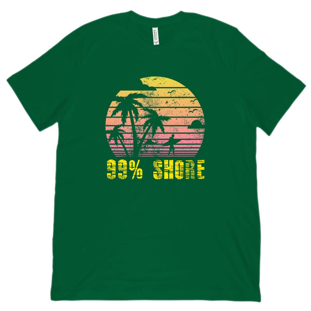 99% Shore Sunset Beach Outdoors Summer (Unisex BC 3001 Soft Tee) Graphic T-Shirt Tee BOXELS