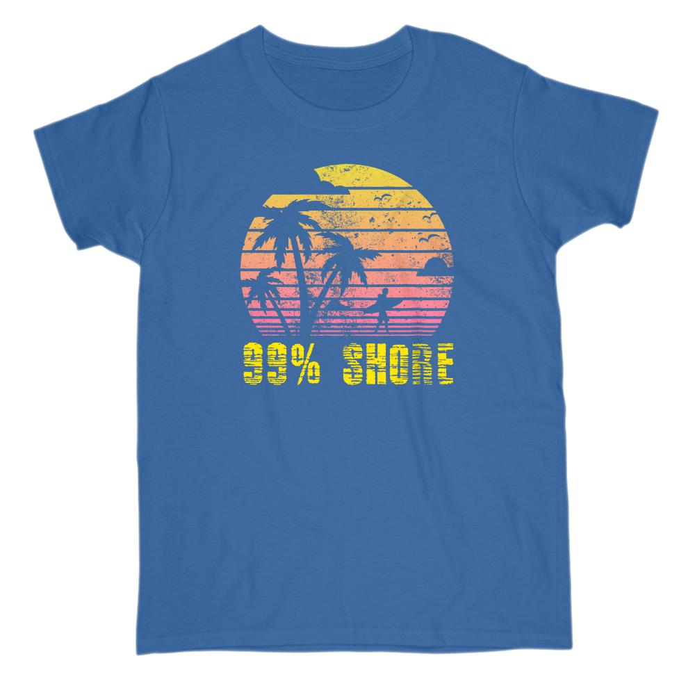 99 % Shore Sunset Beach Palms (Women Tee)