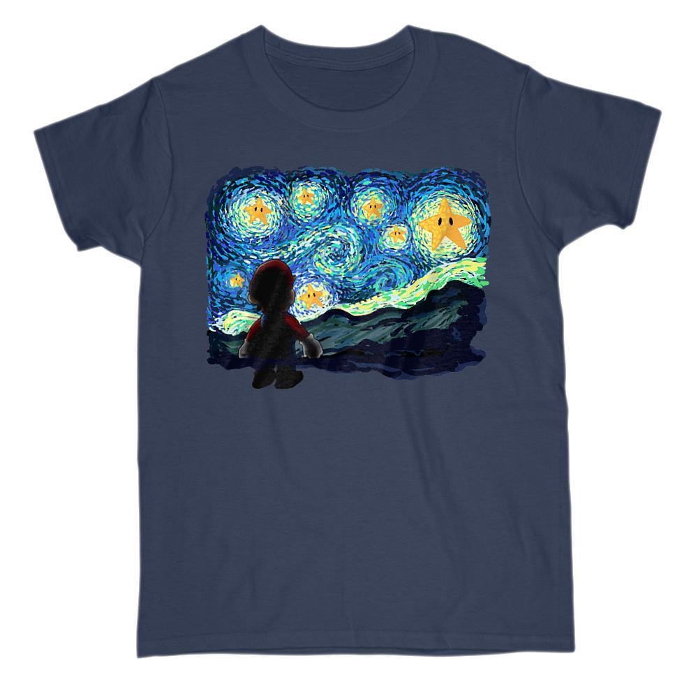 A Starry Night Game Parody Brothers Vincent van Gogh Graphic T-Shirt Tee BOXELS