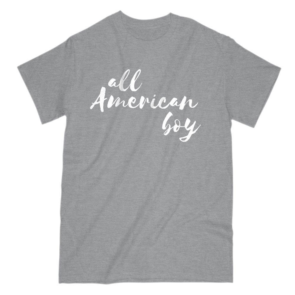 All American boy Graphic Patriotic T-Shirt Graphic T-Shirt Tee BOXELS