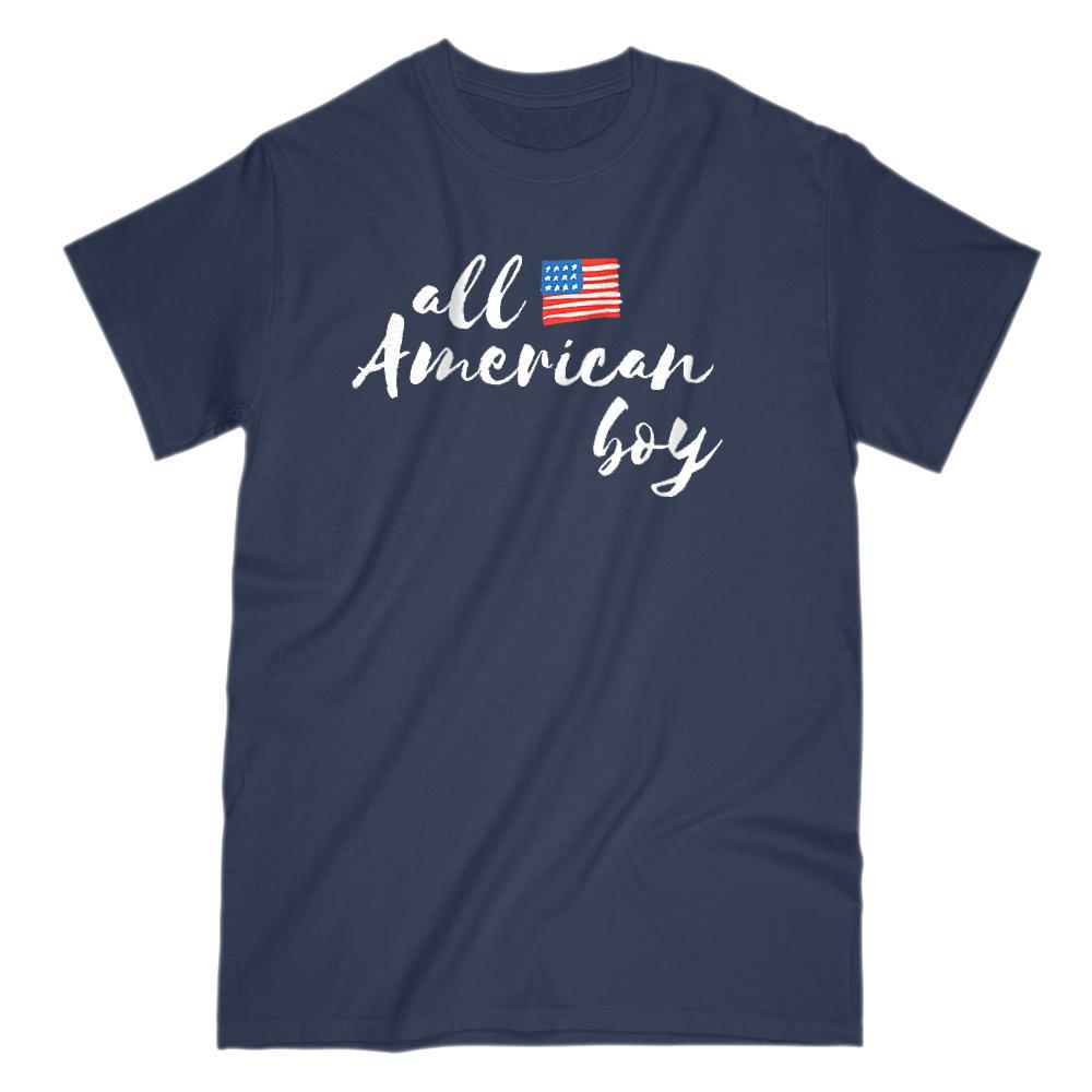 All American Boy Patriotic Flag T-Shirt