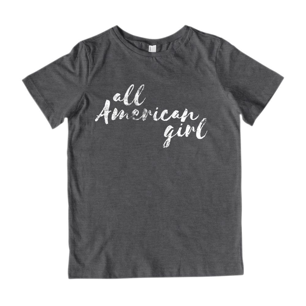 All American Girl (Kids) Patriotic Graphic T-Shirt Graphic T-Shirt Tee BOXELS