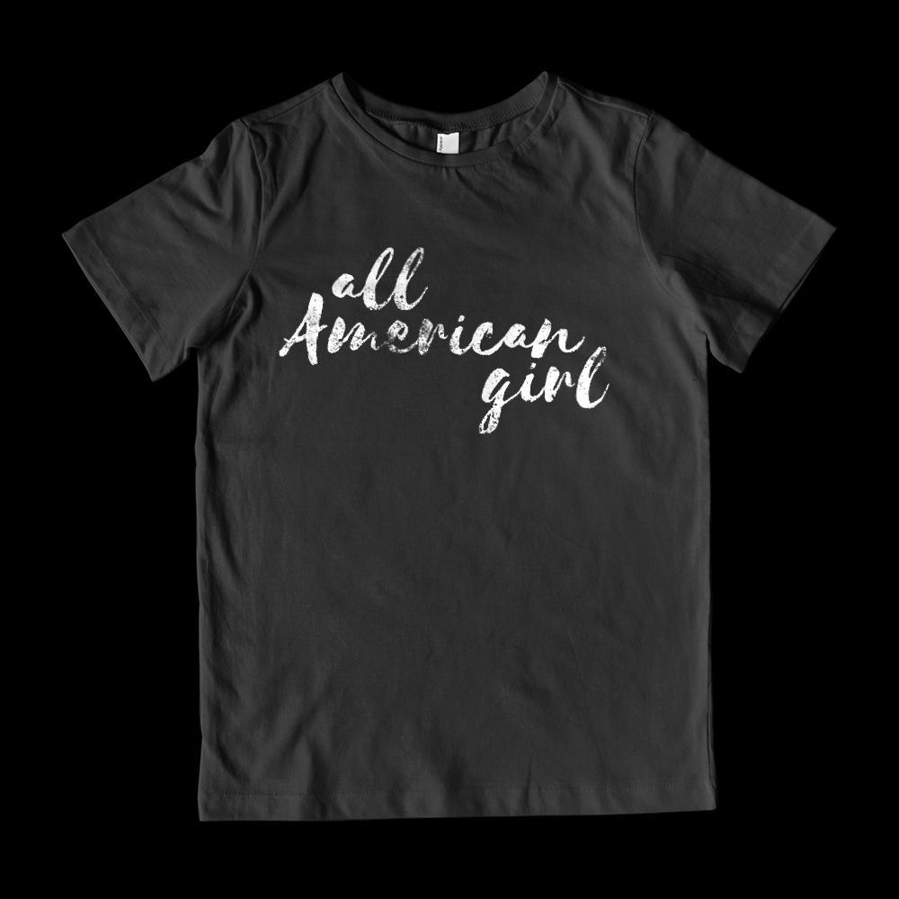 All American Girl (Kids) Patriotic Graphic T-Shirt