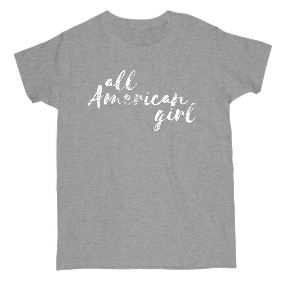all American girl Patriotic Grunge Graphic T-Shirt Graphic T-Shirt Tee BOXELS