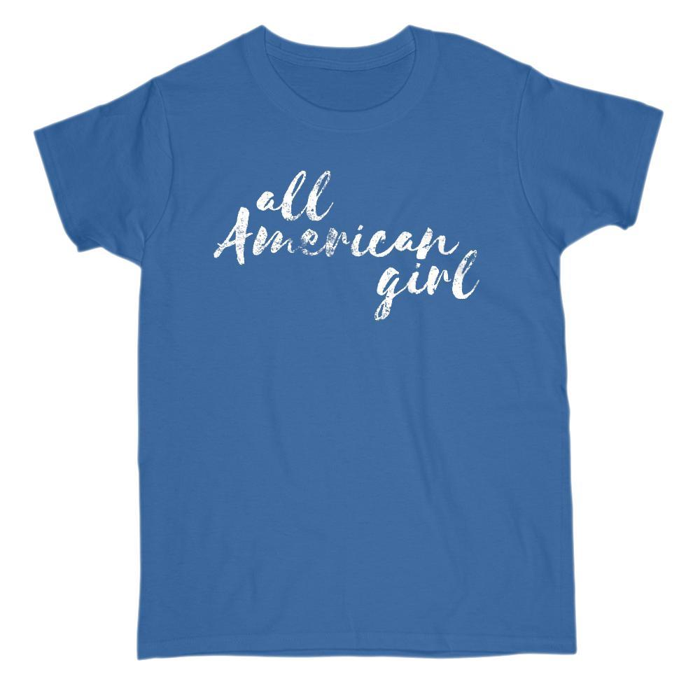 all American girl Patriotic Grunge Graphic T-Shirt