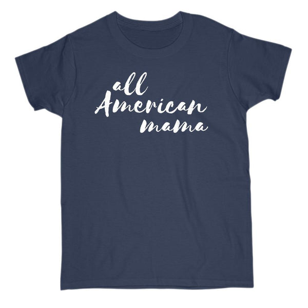 All American Mama Patriotic Graphic T-shirt Graphic T-Shirt Tee BOXELS