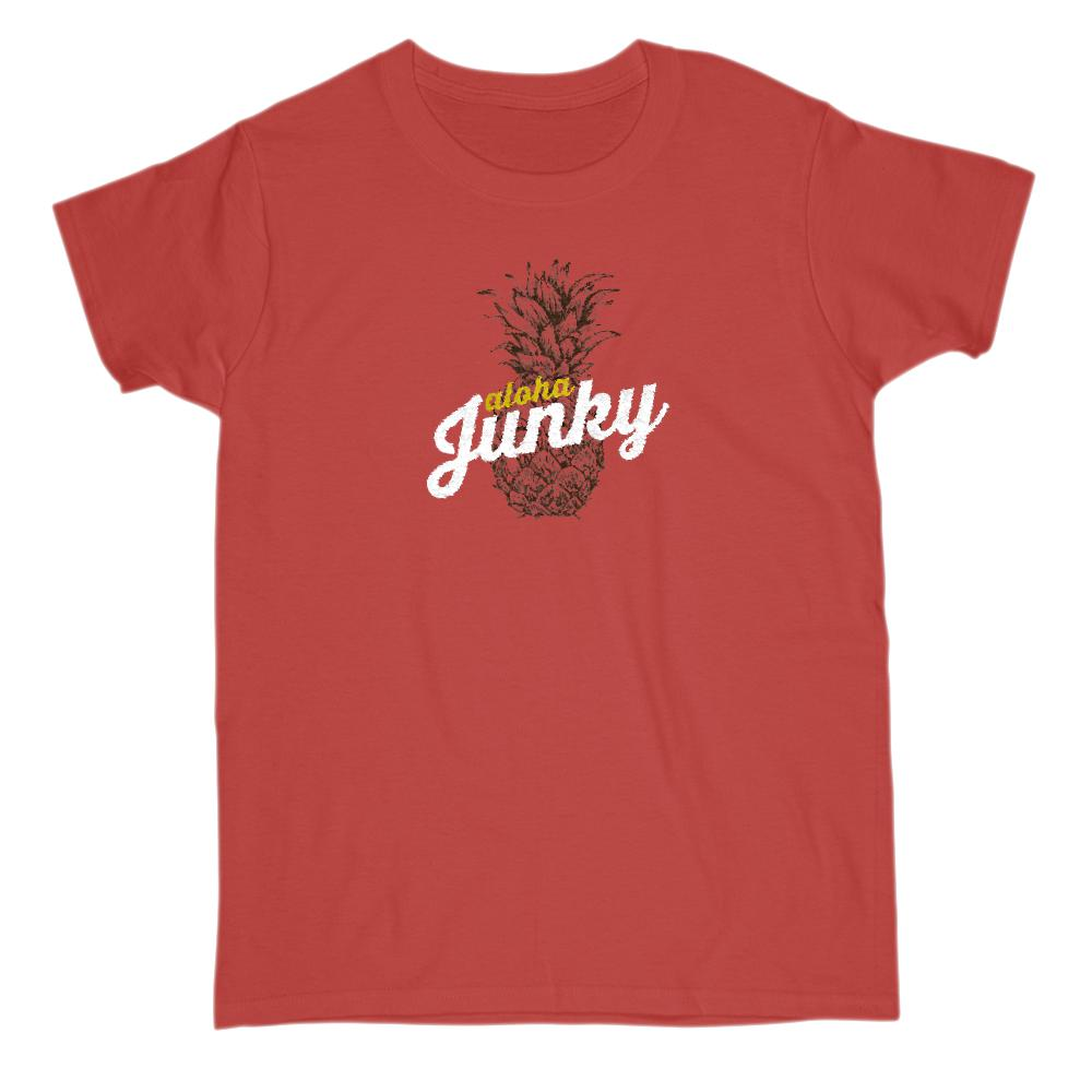 Aloha Junky Pineapple Summer Women's Tee Graphic T-Shirt Tee BOXELS