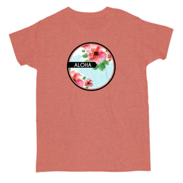 Aloha Women's Graphic Floral T-shirt Graphic T-Shirt Tee BOXELS
