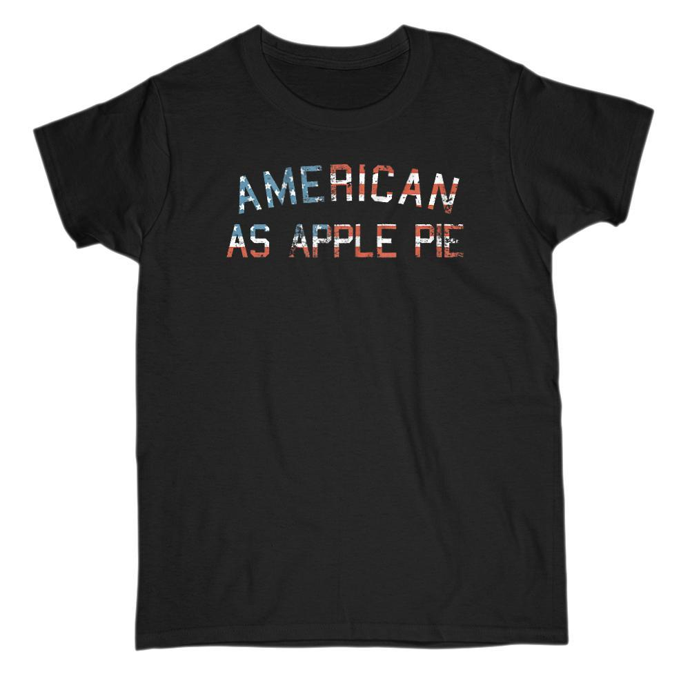 American as Apple Pie Graphic Grunge Patriotic Flag T-Shirt Graphic T-Shirt Tee BOXELS