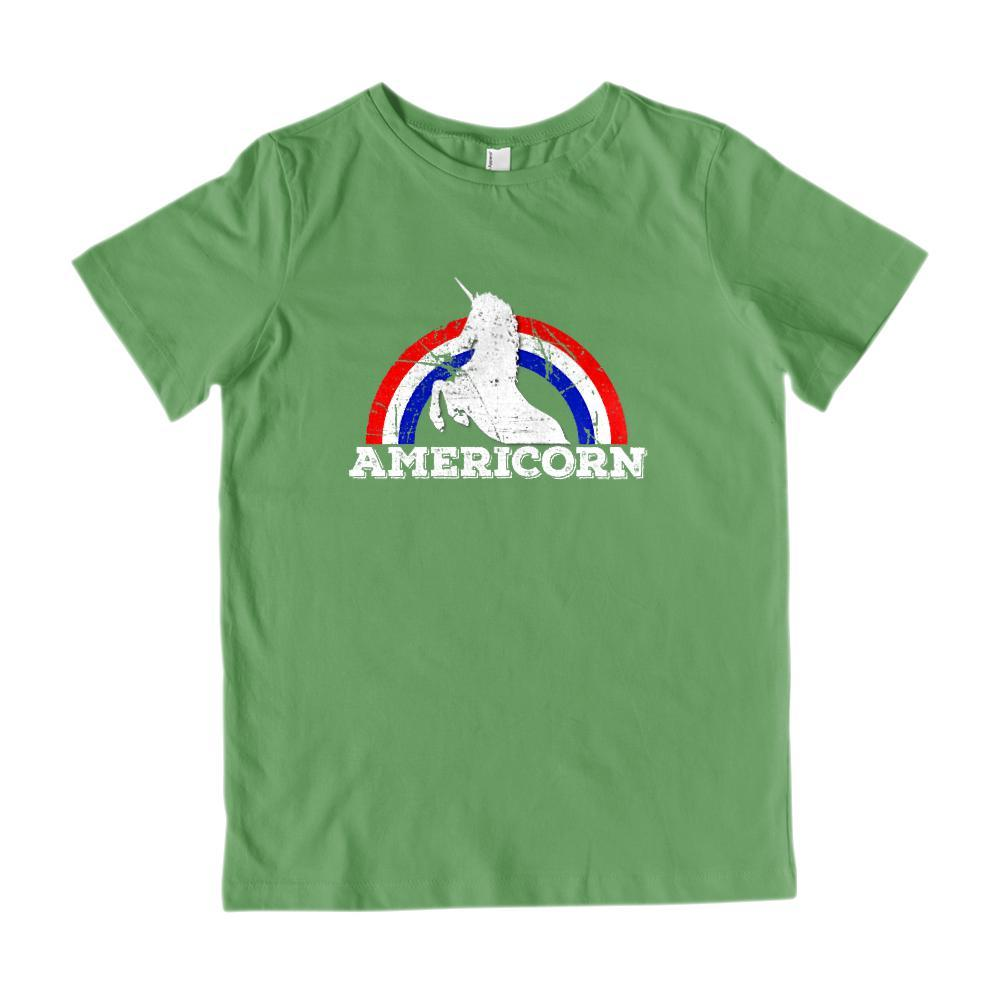 Americorn Unicorn America Patriotic Kids T-shirt Graphic T-Shirt Tee BOXELS